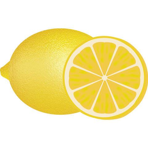 輪切りにしたレモン