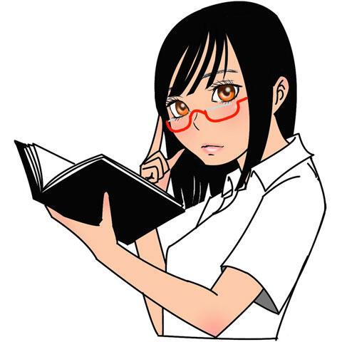 本を開く女子学生