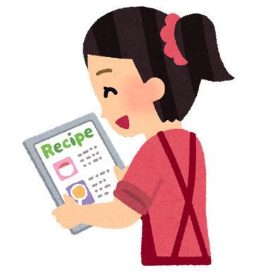 レシピを見る人