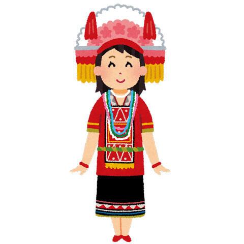 民族衣装を着た台湾人