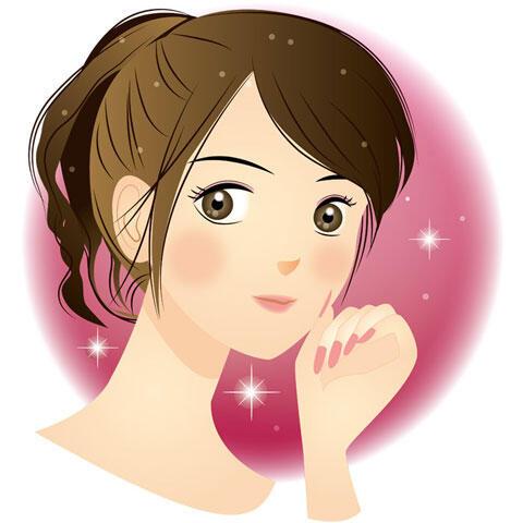 キラキラ輝く女性の顔