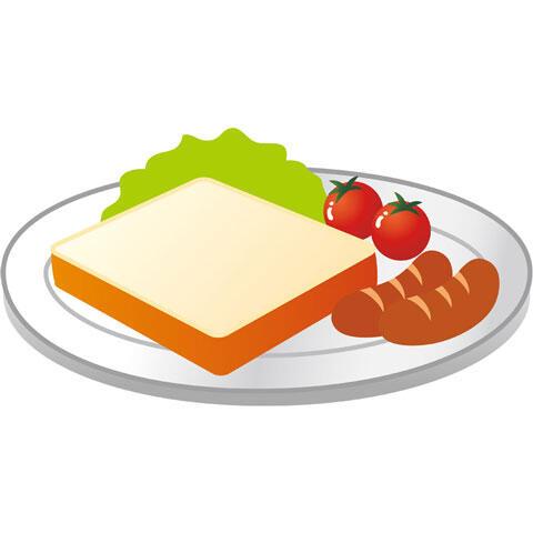 トーストとウインナーの朝食