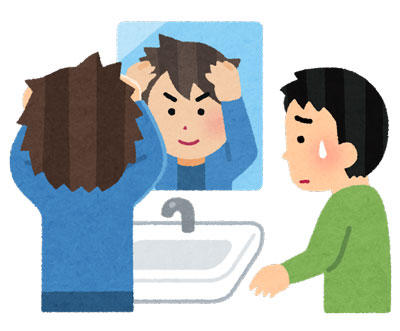 髪 セット 洗面台