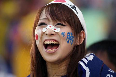 日本代表 美人サポ