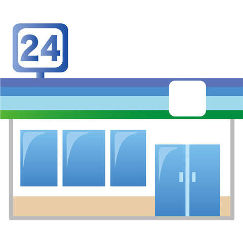 24時間営業のコンビニ