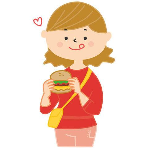 ハンバーガー 女の子