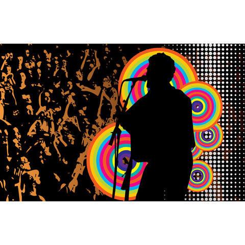 ミュージシャンと観客のライブ背景