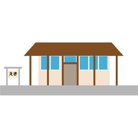 小さな鉄道の駅