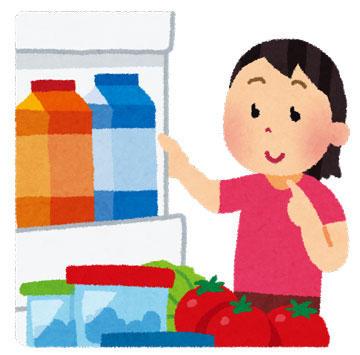 冷蔵庫の中をチェック
