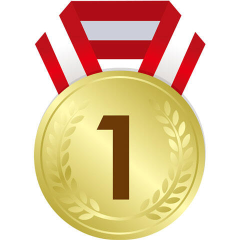 1位の金メダル