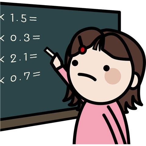 計算問題を解く女の子