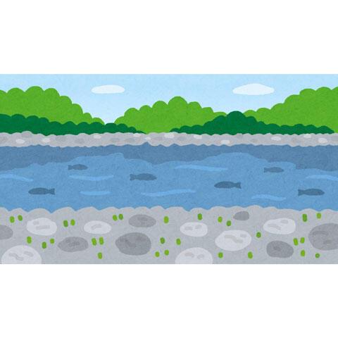 自然の川原(河原)