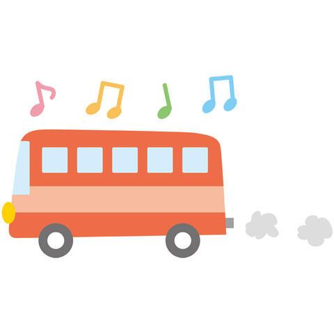 音符とバス