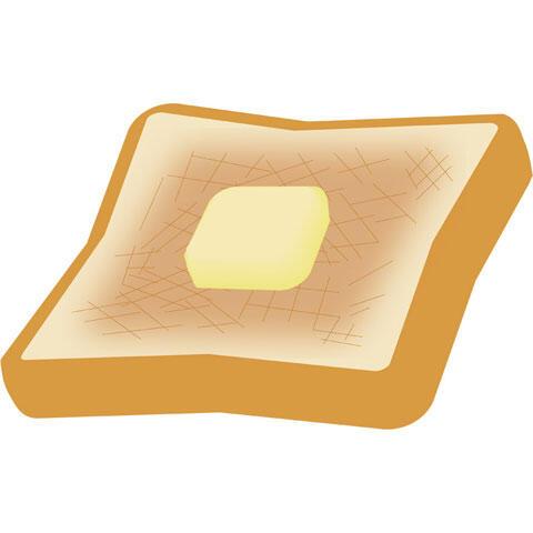 バターをのせたトースト