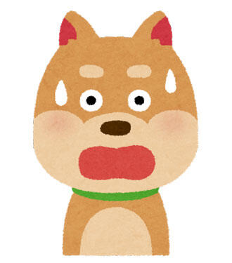 犬 驚いた顔