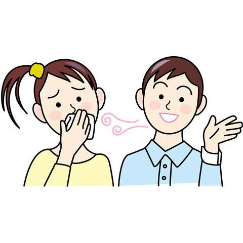 男性の口臭が臭い女性