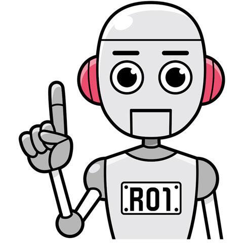 アドバイスするロボット