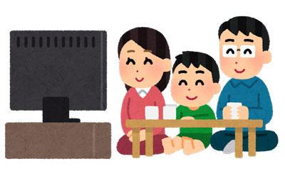 テレビ 笑顔