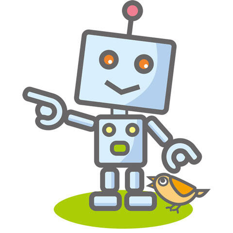 指差すロボット
