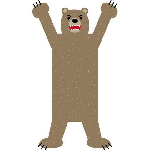 立ち上がって襲う熊