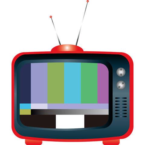 アンテナが付いたブラウン管テレビ