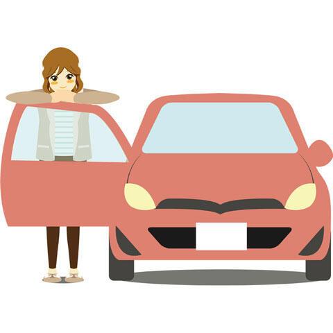 女性と愛車