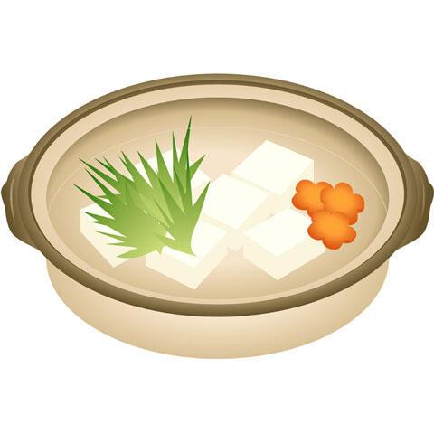 土鍋の中の湯豆腐