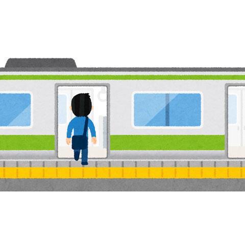 電車の乗り降りをする人(男性)
