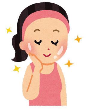 お肌がつるつる、ピカピカの健康的な女性