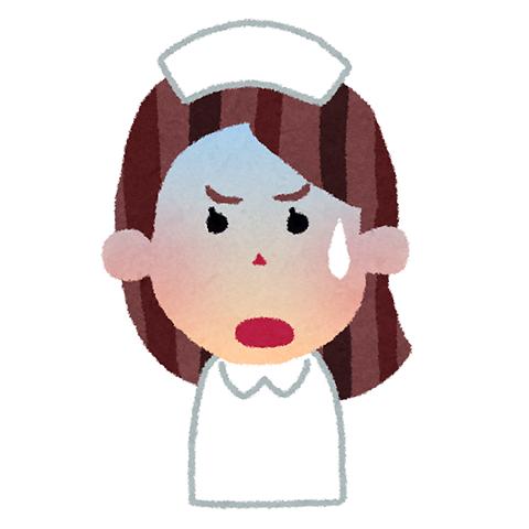 看護婦 表情