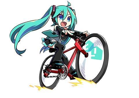 初音ミク 自転車