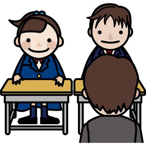 教室にいる先生と生徒