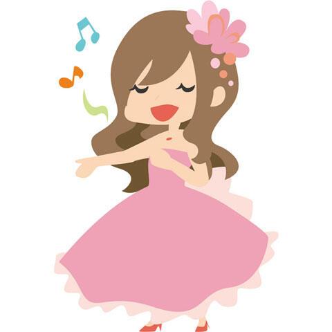 歌っているアイドル