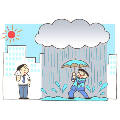 局地的な豪雨