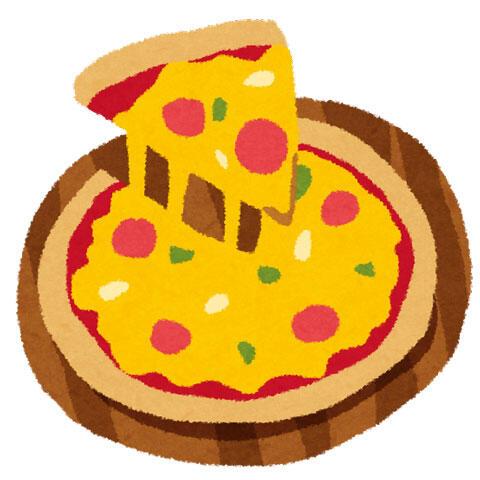 トマトとサラミのピザ