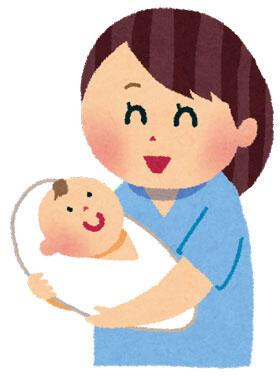 出産したばかりのお母さんと赤ちゃん