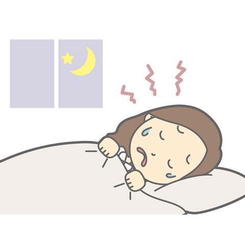 悪夢にうなされる女性