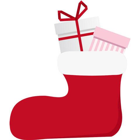 クリスマスプレゼントが入った靴下