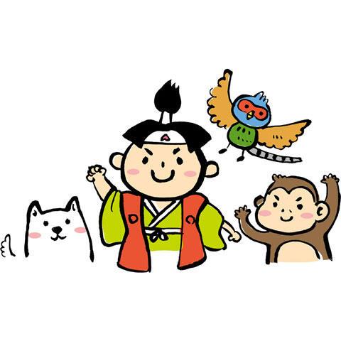 桃太郎とサルとキジとイヌ