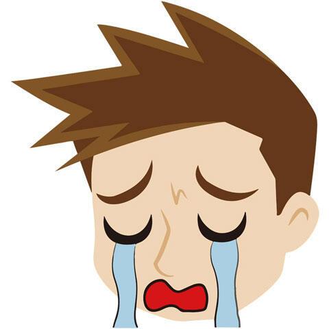 号泣する男性
