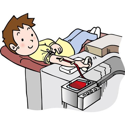 献血中の男性