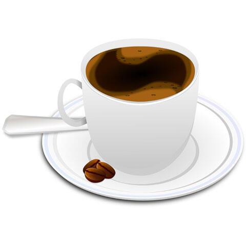 コーヒーカップに入ったエスプレッソコーヒー