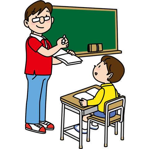 授業中の先生と生徒