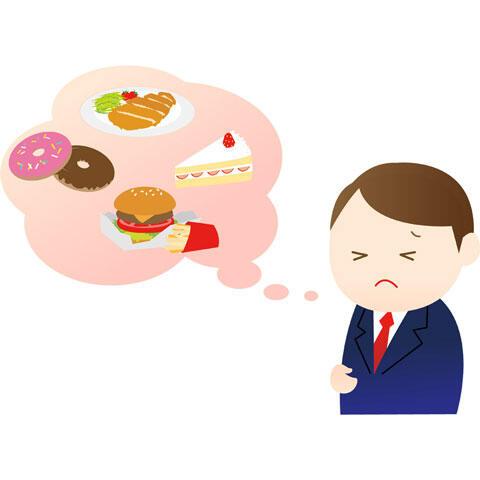 誘惑にかられるダイエット中の男性