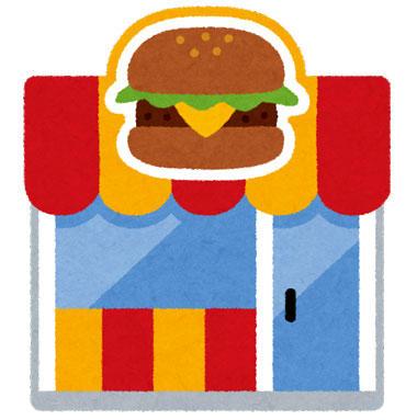 ハンバーガー屋 ファーストフード店