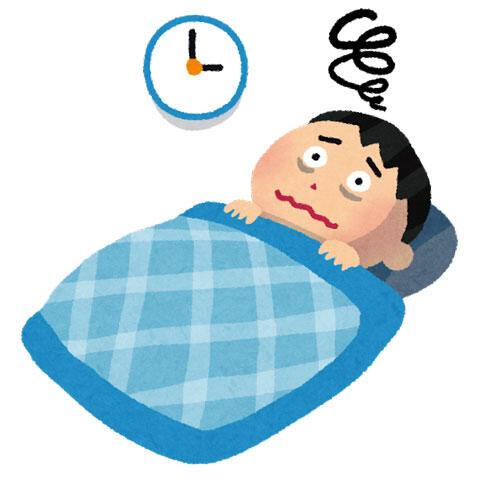 夜中になってもなかなか眠れない男性