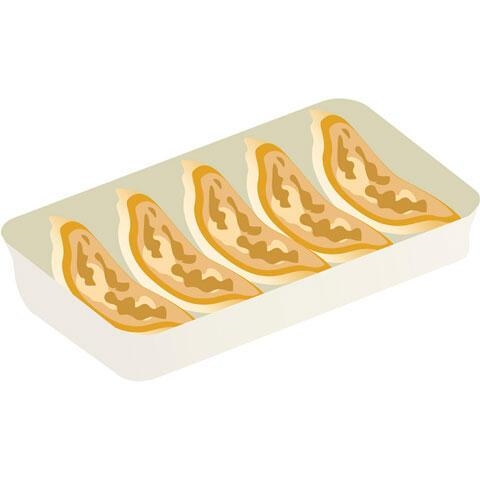 5個の焼き餃子