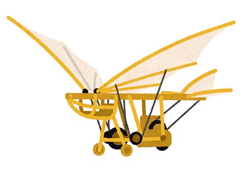 鳥人間 飛行機