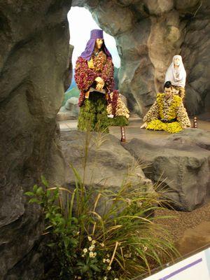 山野草展:たけふ菊人形