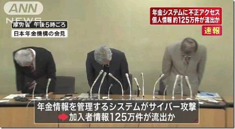 年金機構の職員が公表前に2chに書き込み